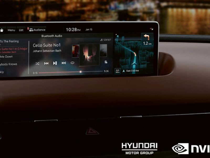 Hyundai NVIDIA DRIVE 'connected car' infotainment
