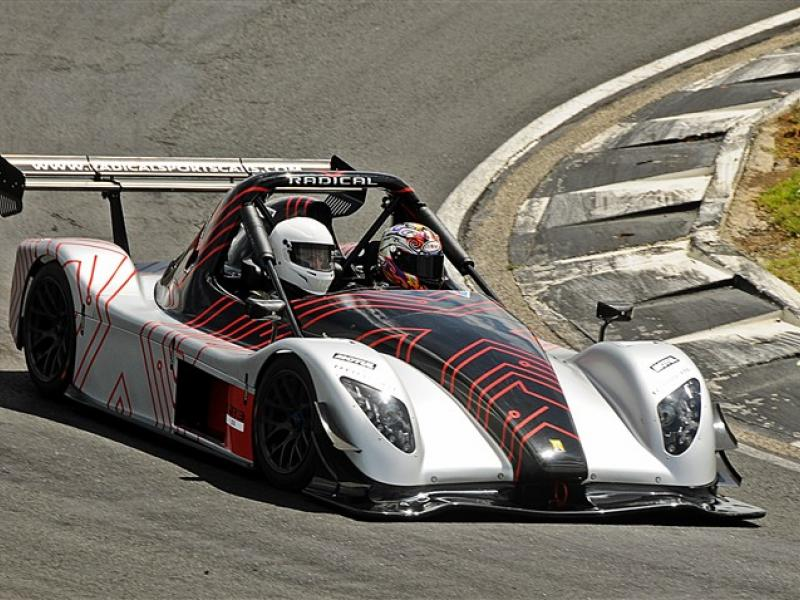 Getting some track time in a radical SR3XX!