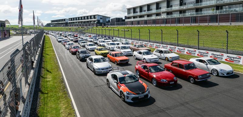 Hundreds of car enthusiasts at Toyota Festival